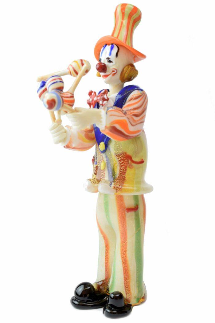 Clown Clown aus Muranoglas