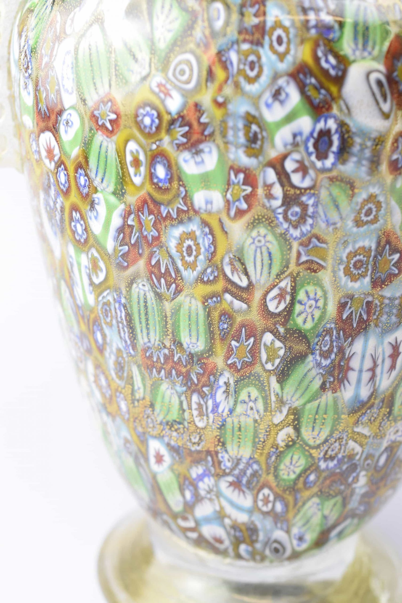 Murrine and Gold Leaf Vase - (Art. 1018)