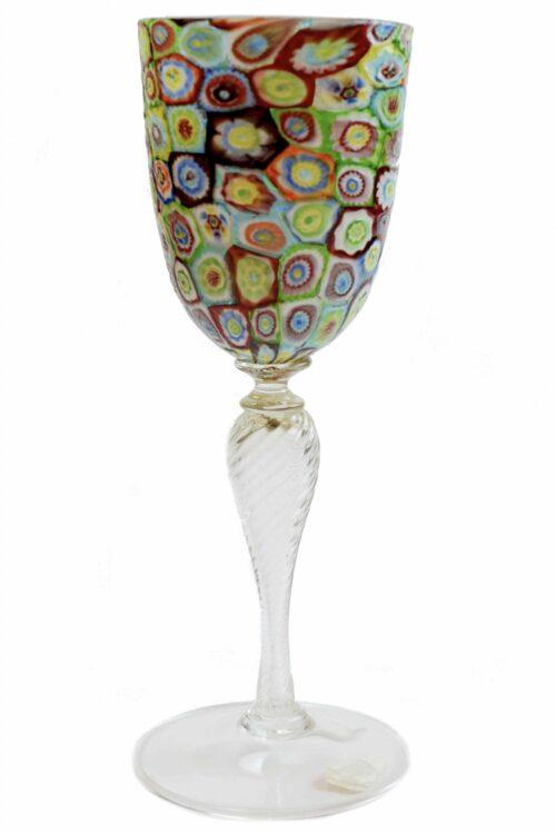 Кубок с винтажным муранским стеклом Murrine