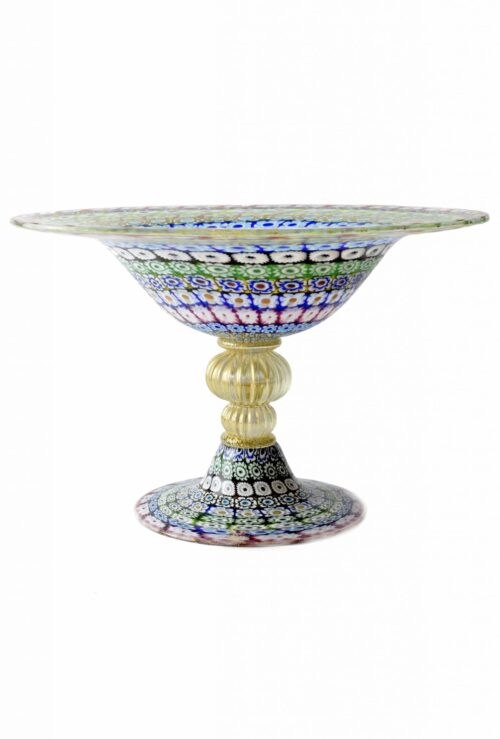 центральная чашка с муранским стеклом murrine