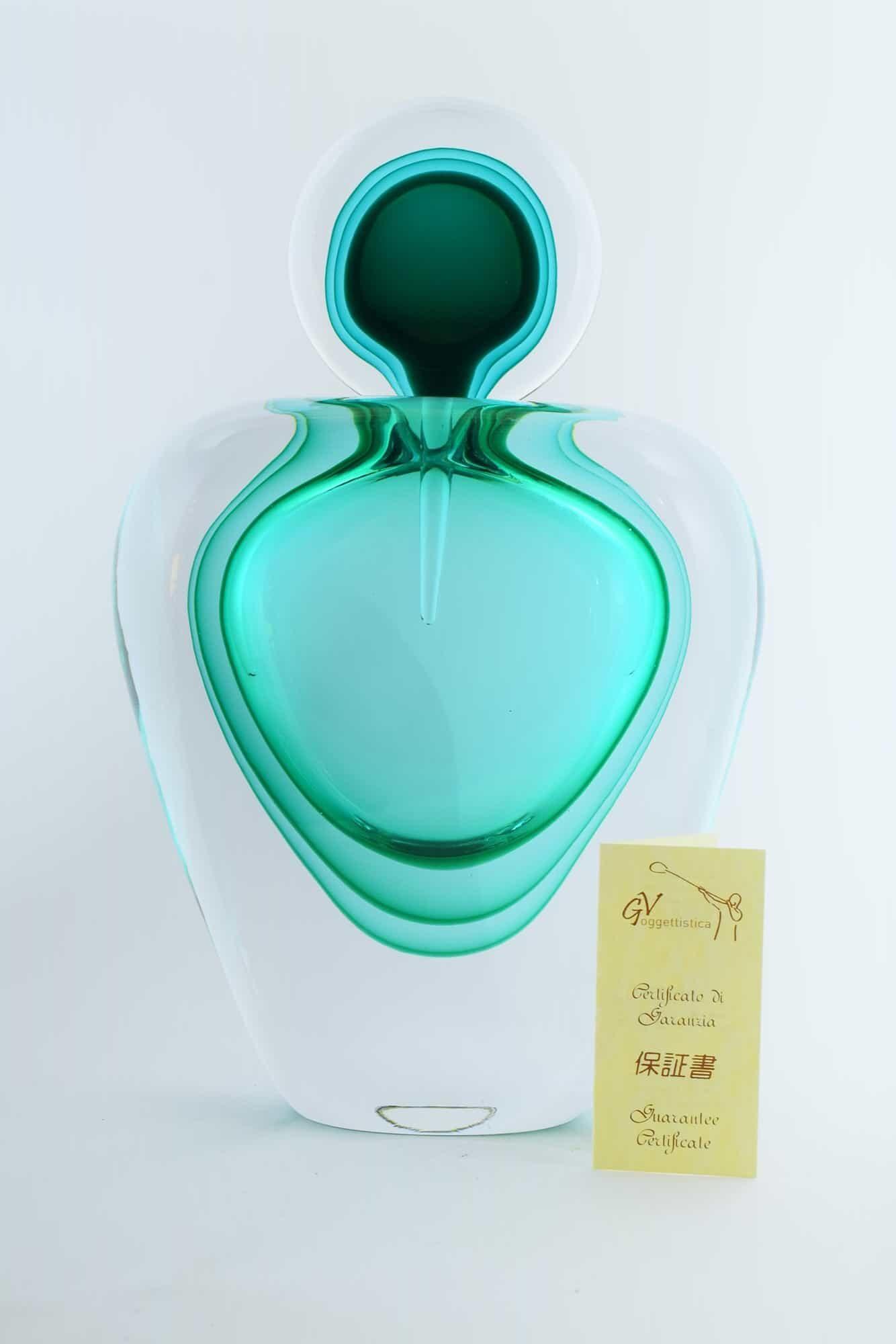 Бутылка из погруженного в воду муранского стекла Giuliano Tosi (Art.1042)