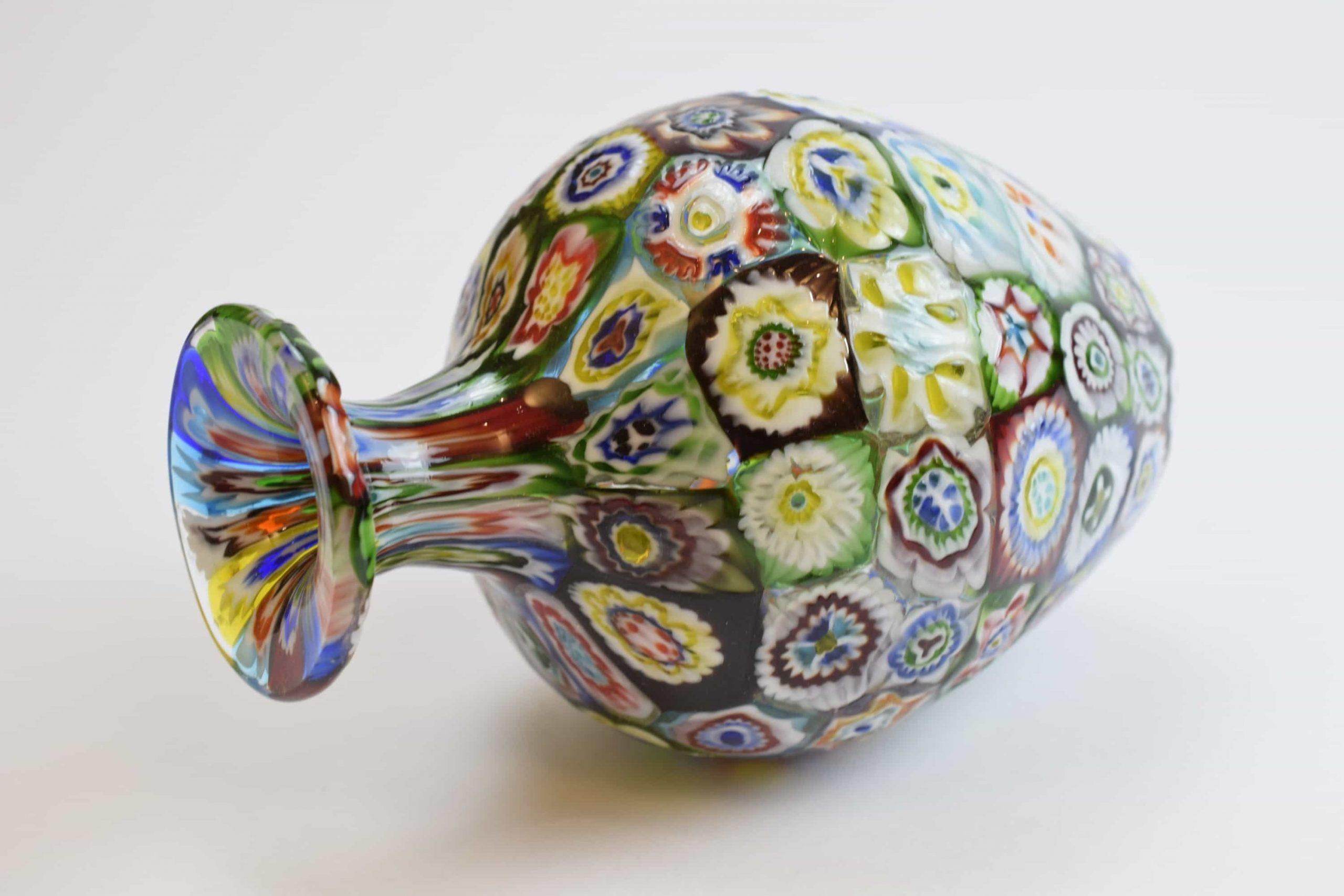 Vintage Murrine Vase aus Muranoglas - (Art. 2137)