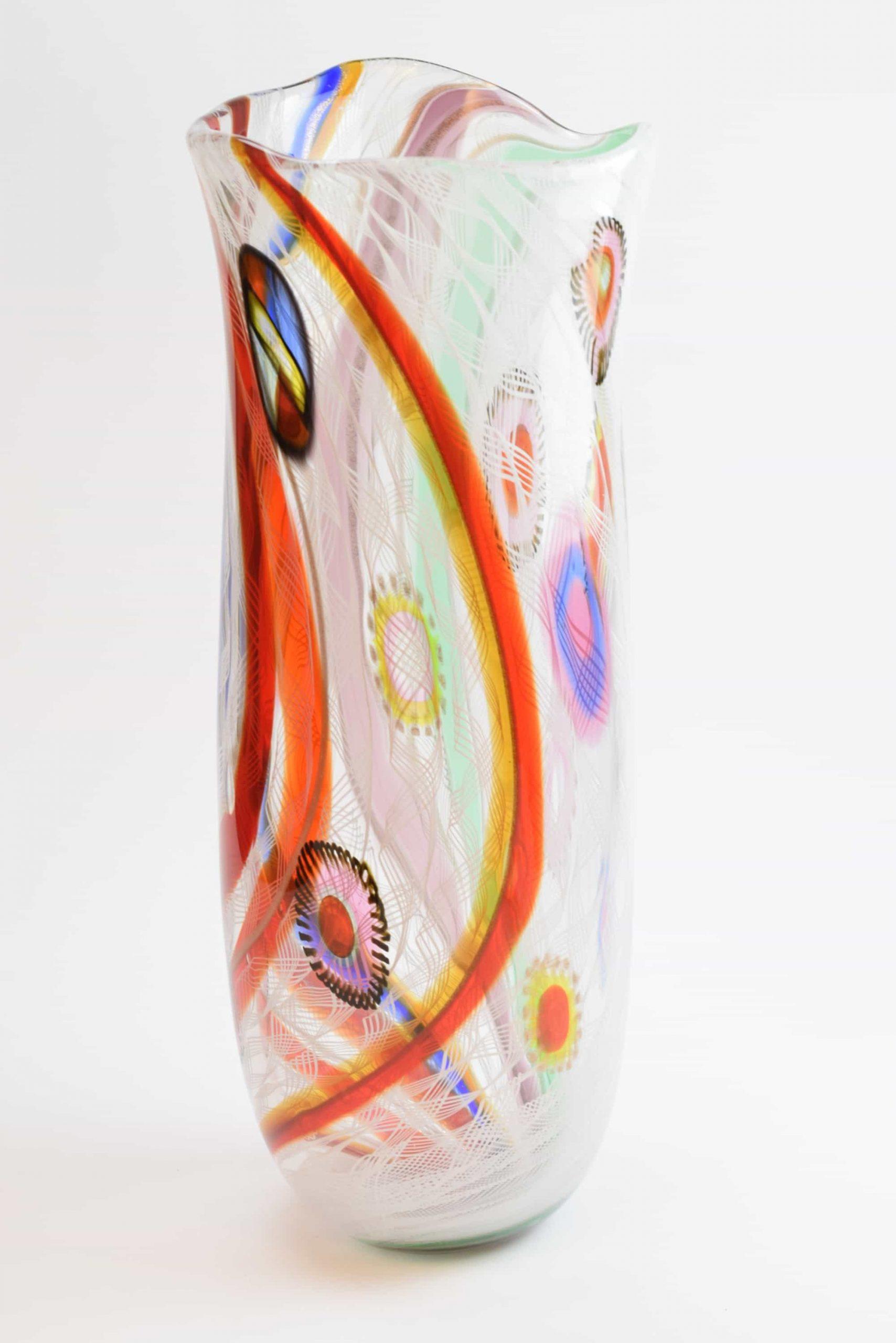 Reticello Vase aus Muranoglas - (Art. 2494)