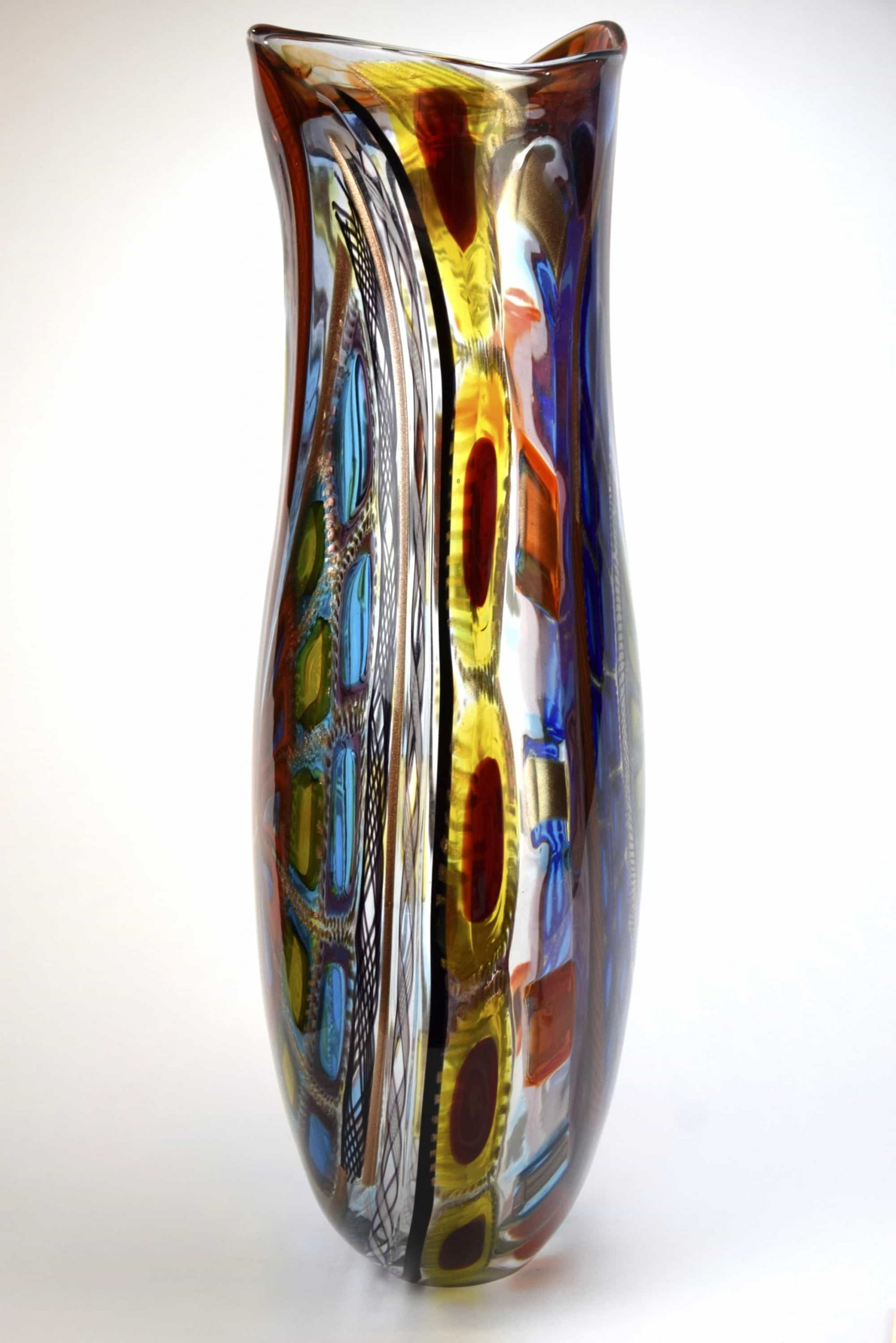 Уникальная художественная ваза из муранского стекла (арт. 2504)