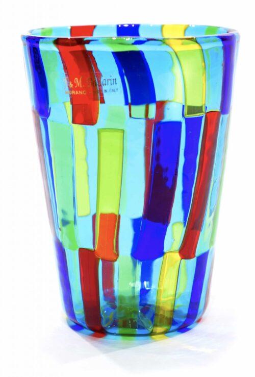 Gefleckte Glasvase aus Murano