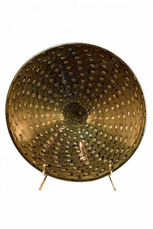 Центральная пластина из муранского стекла с золотыми пузырьками