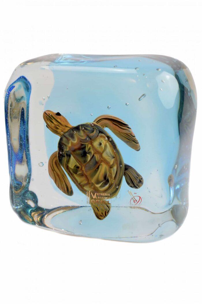 Murano Glasaquarium mit Schildkröte