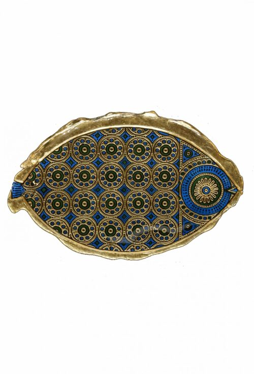 Blattgold-Flachrelief aus Muranoglas