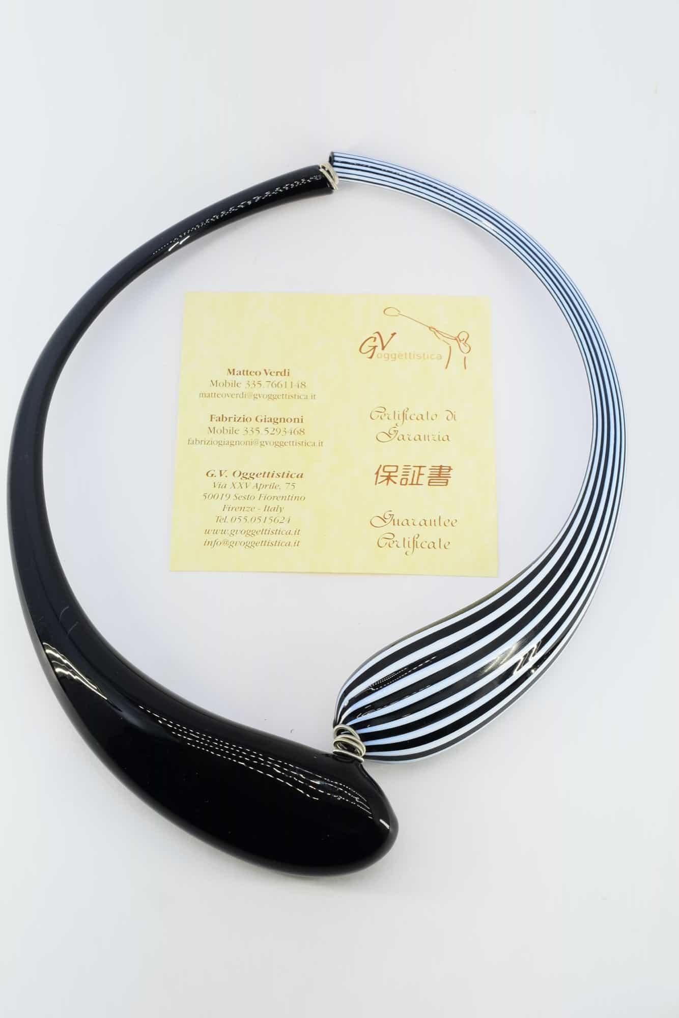Filigrane Halskette aus Muranoglas - (Art. 2357)