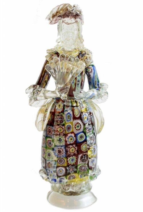 sculpture with murano glass murrine