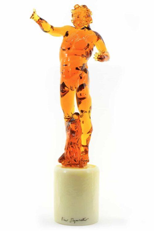 Скульптура синьоретто из сосны из муранского стекла