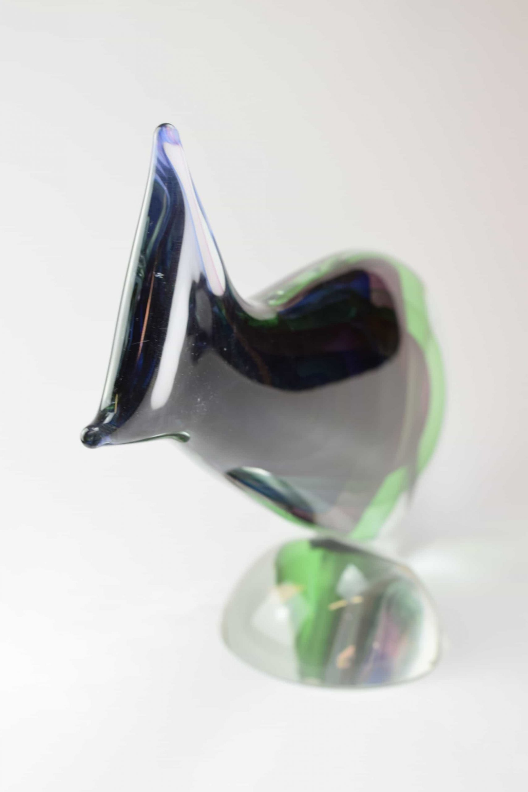 Murano Glass Sculpture Submerged Fish