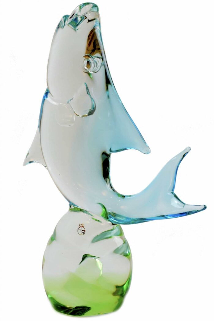 signierte Murano Glasskulptur