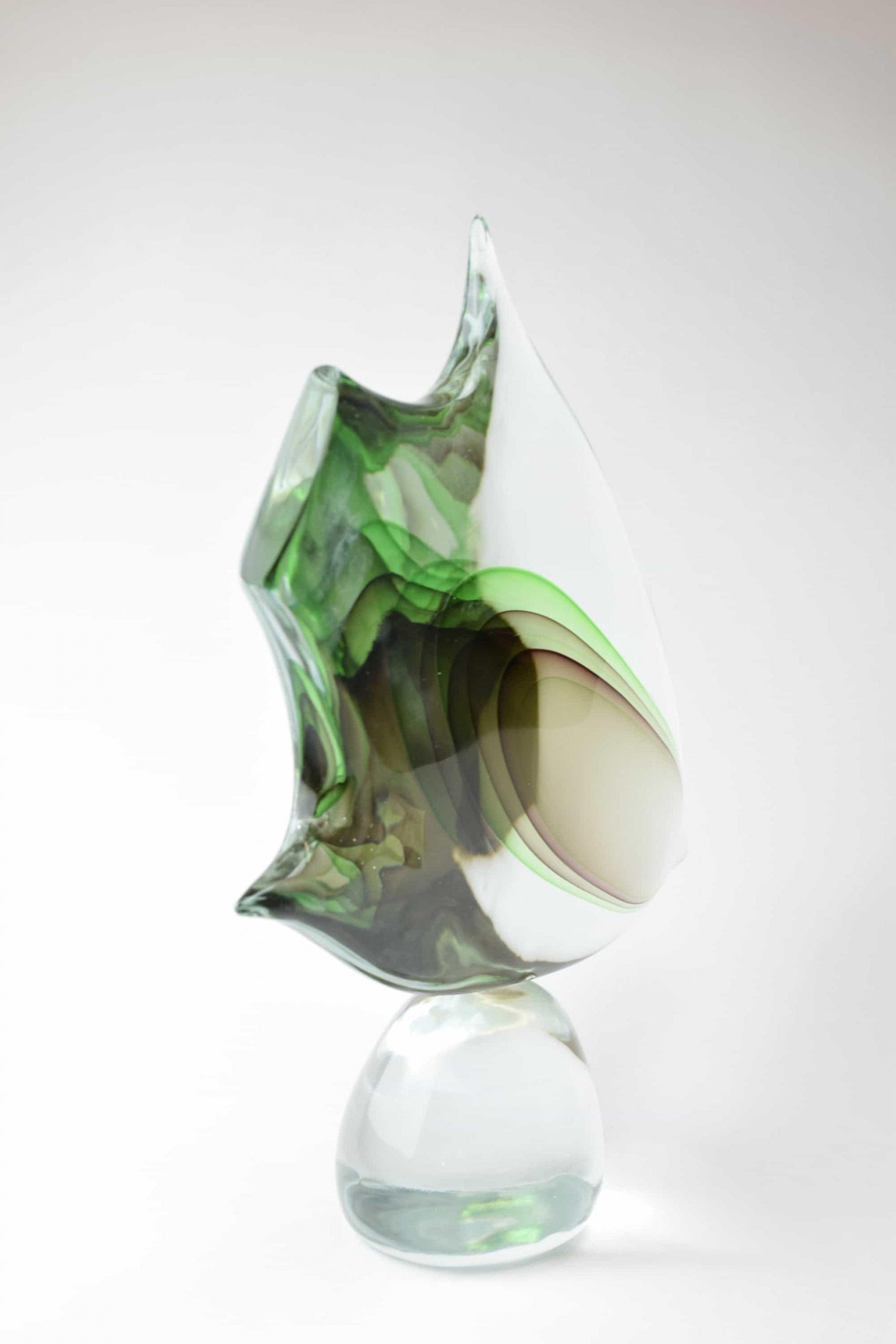 Murano Glas Fischskulptur