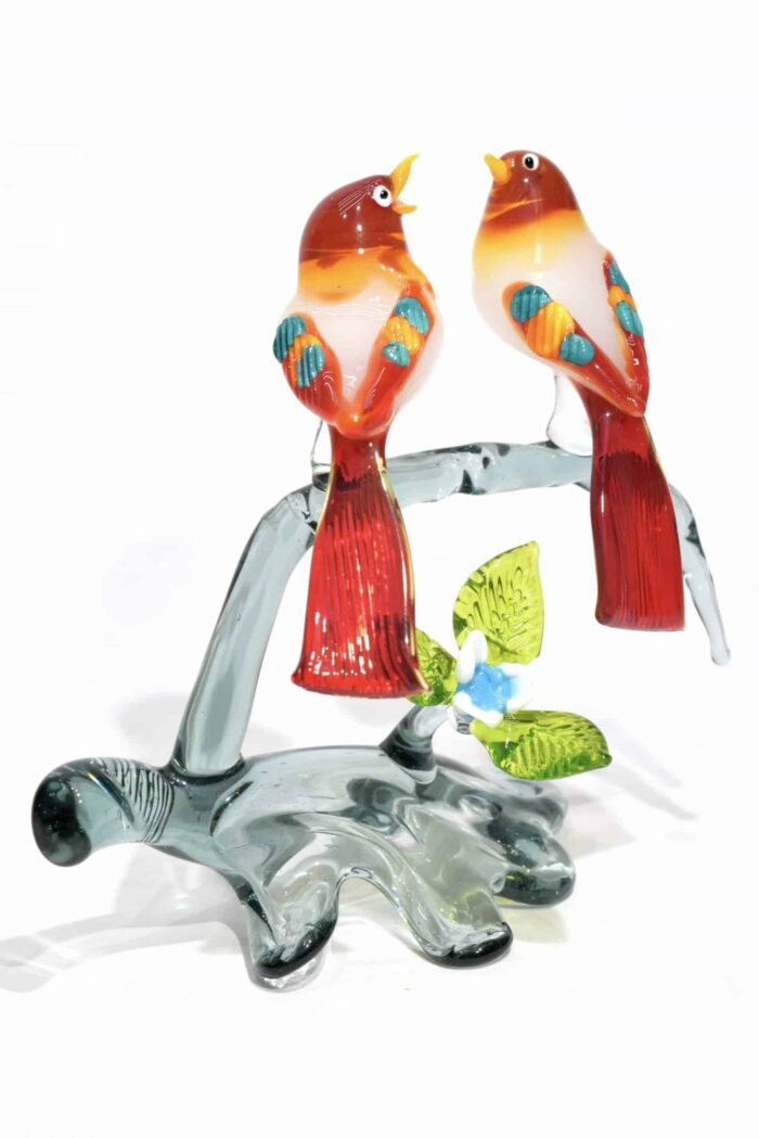 Zweig mit Murano Glas Vögel Glas Baum Vögel