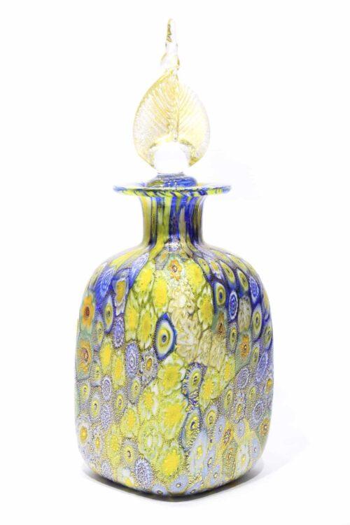 Murano glass murrine bottle