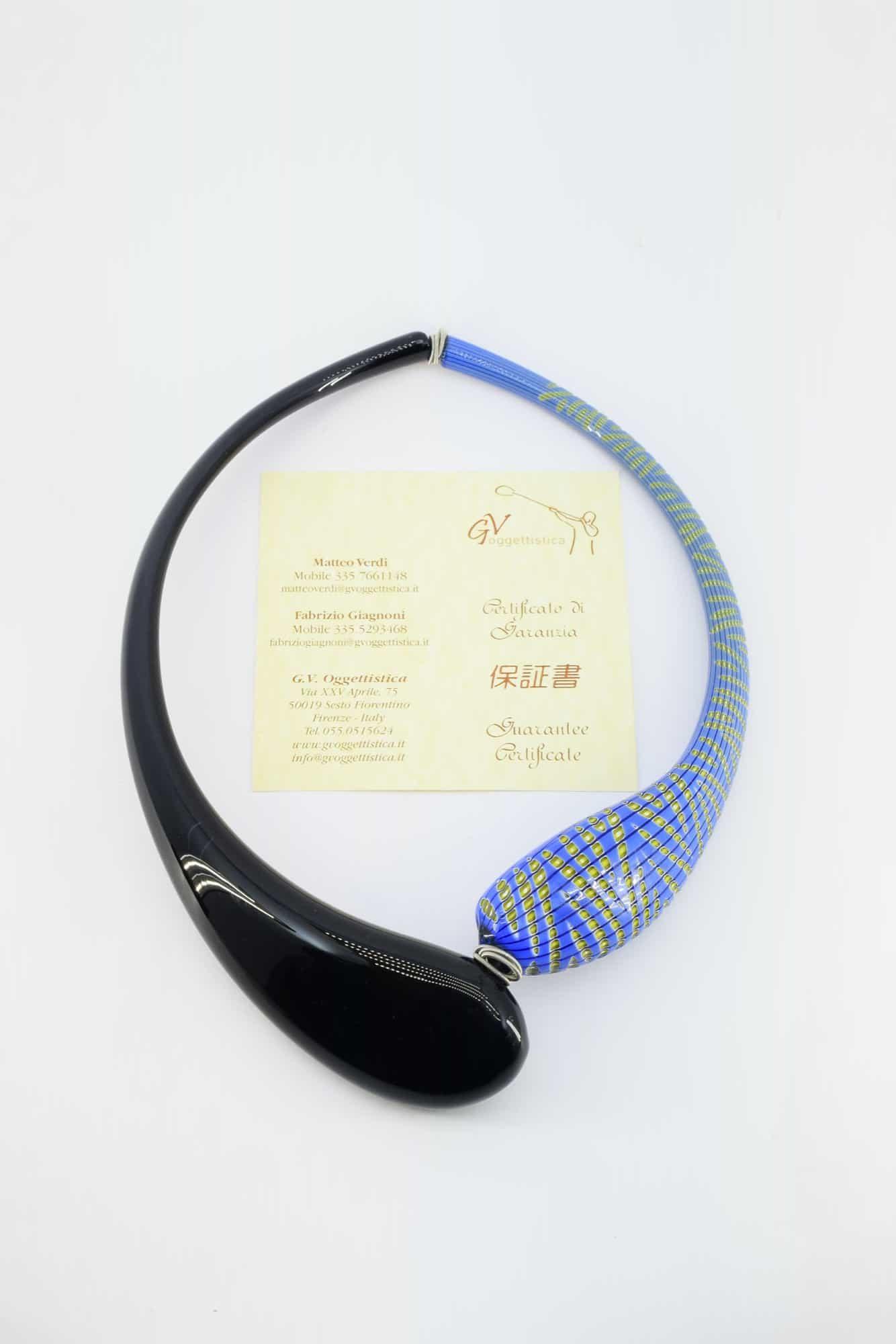 Колье-чокер из муранского стекла - (Art. 6841)
