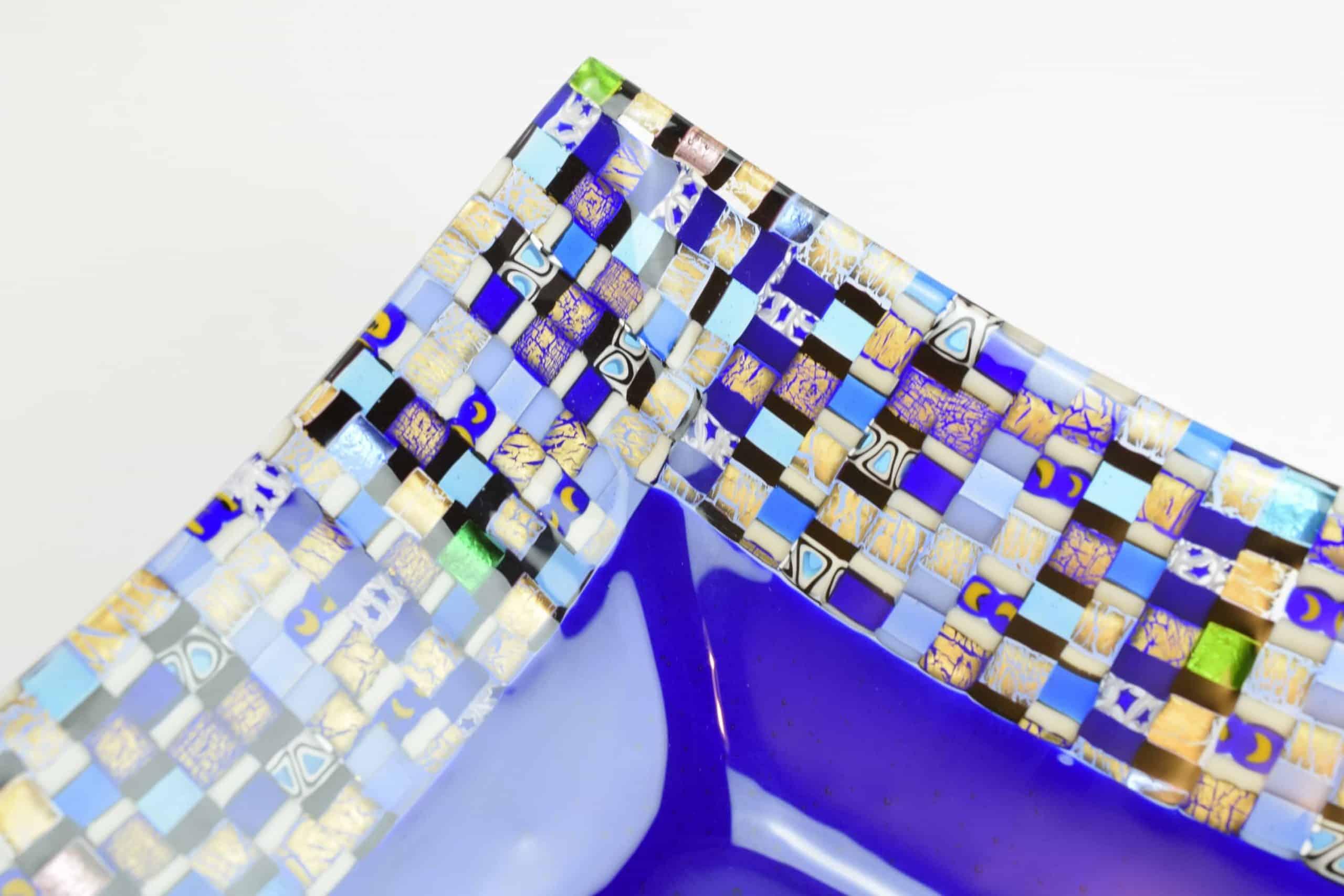 Мозаичная тарелка из муранского стекла - (Art.7510)
