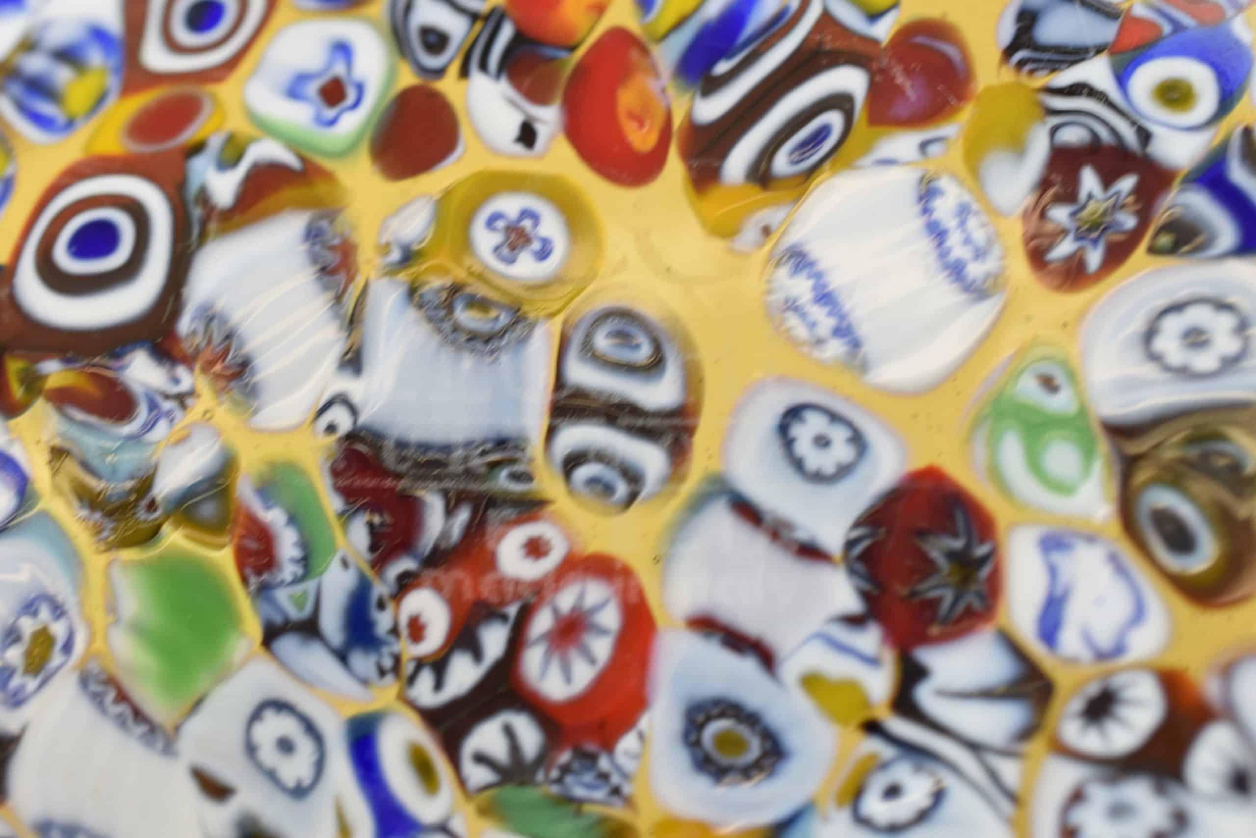 Gelbes Murano Glas Herzstück
