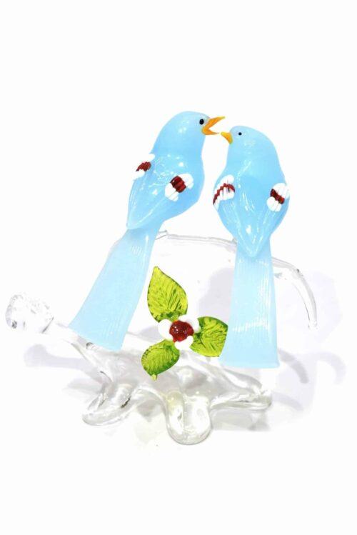 Zweig mit Muranoglasvögeln