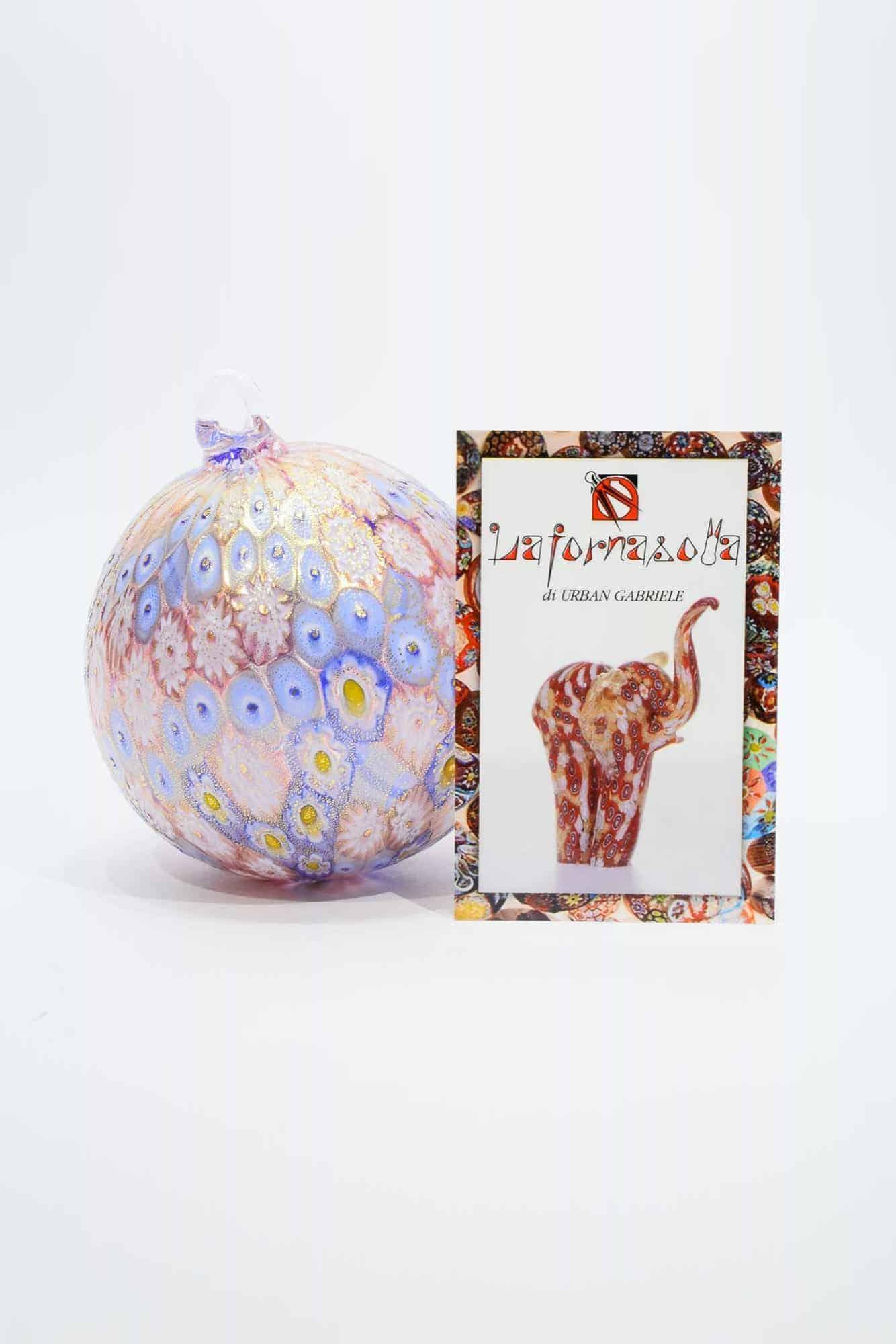 Елочный шар с муррином из муранского стекла (Art. 9259)
