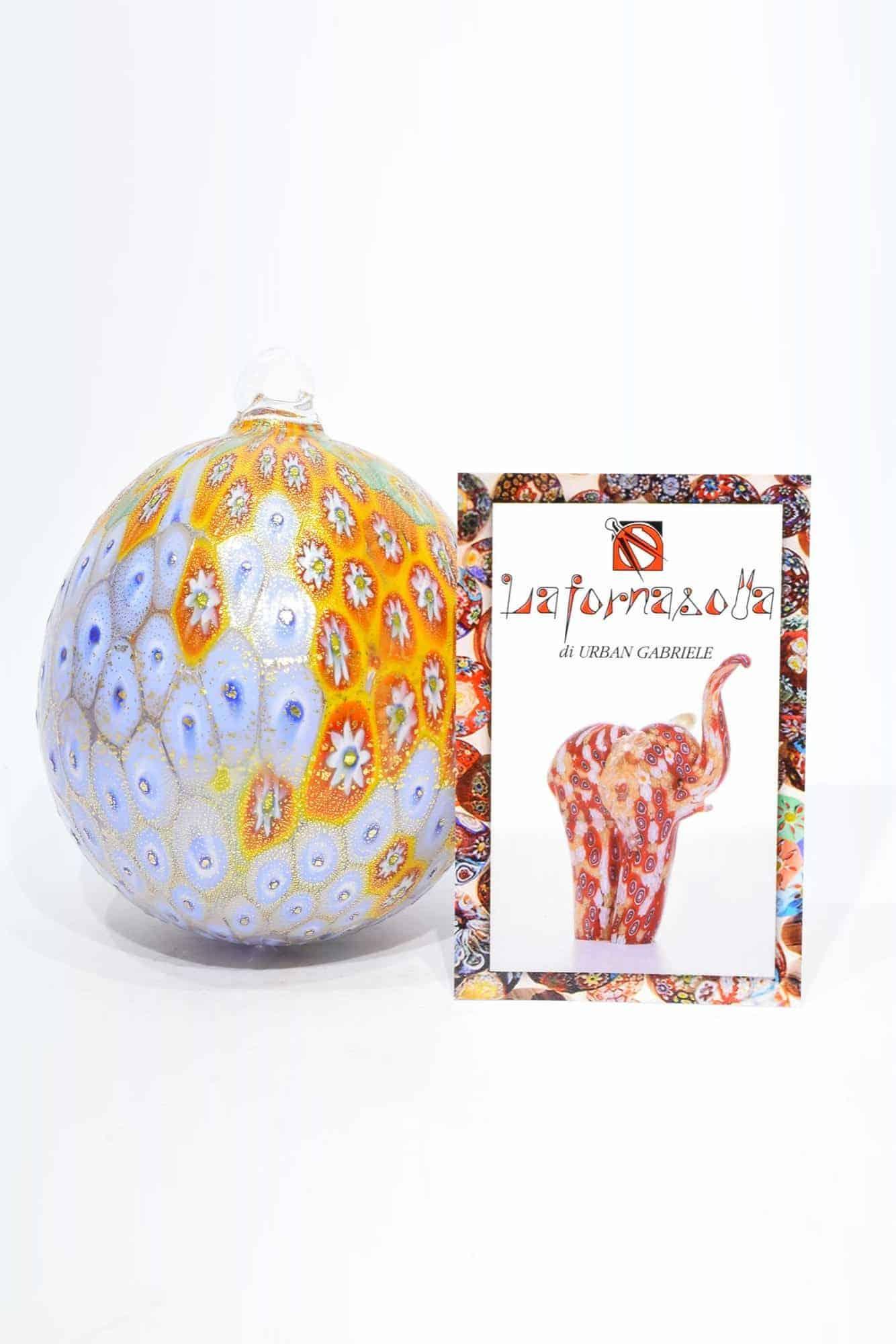 Елочный шар с муррином из муранского стекла (Art. 10401)