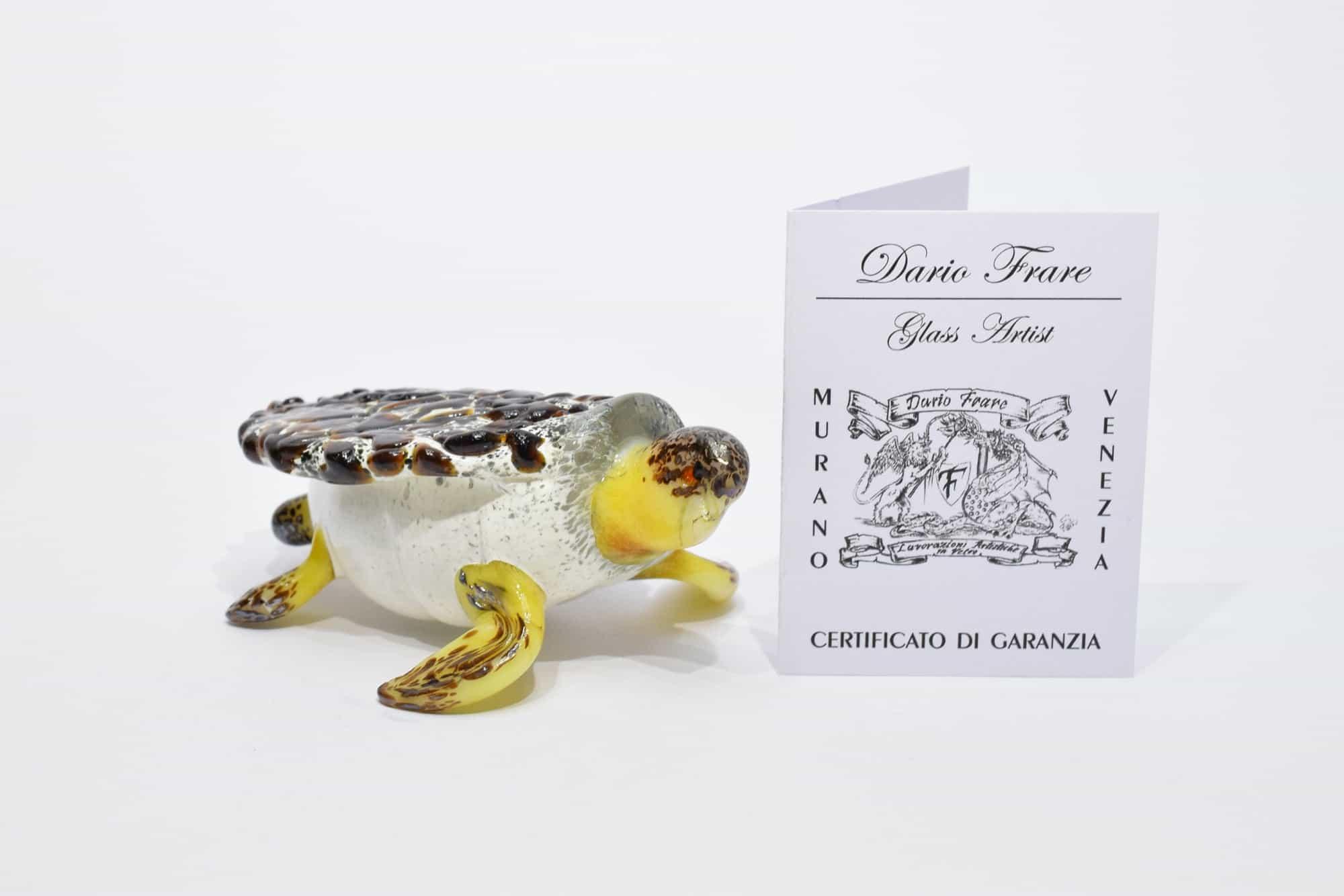Murano Blown Glass Turtle - (Art. 10676)