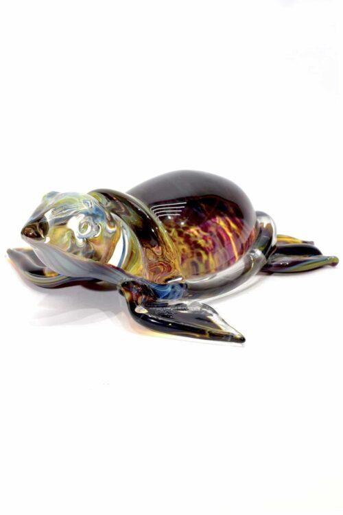 черепаха с халцедоном из муранского стекла