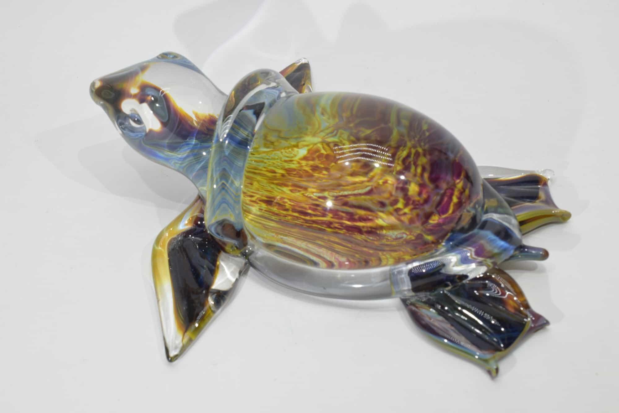 Schildkrötenchalcedon aus Muranoglas - Art. (11479)