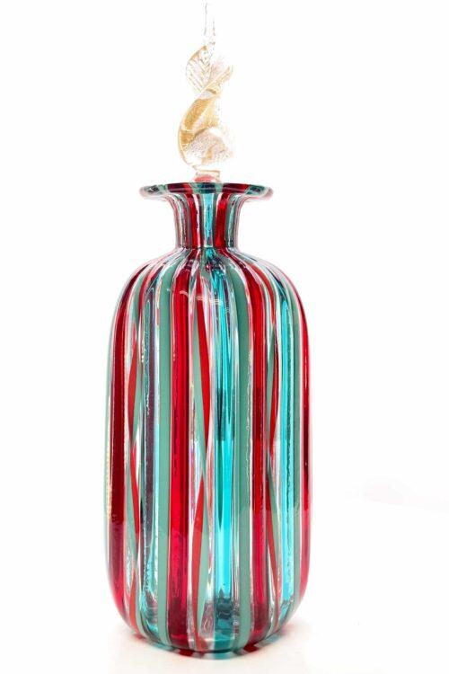 бутылка с язычками из дутого муранского стекла