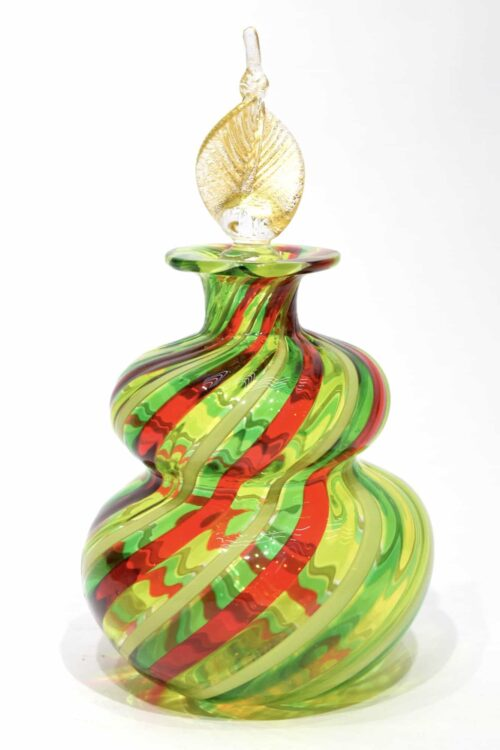 Filigrane Flasche aus Muranoglas
