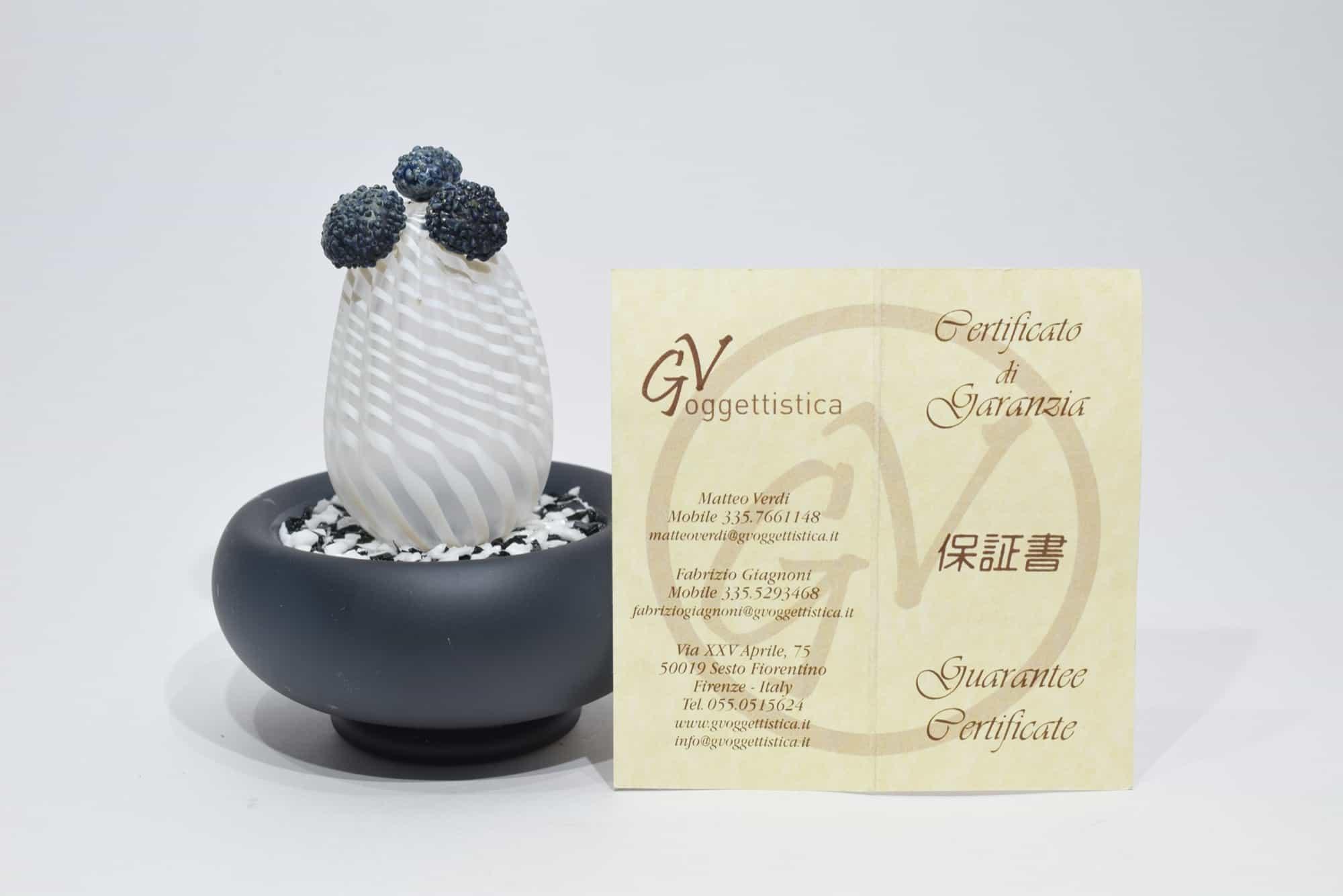 Murano Glass Cactus - (Art.12220)