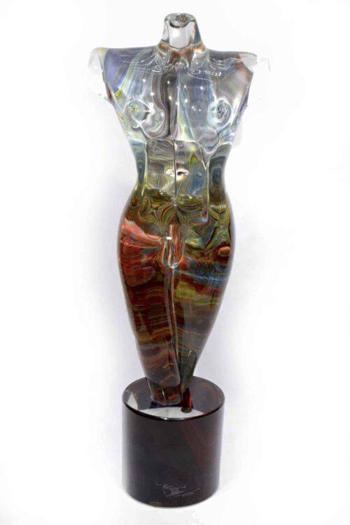скульптура бюста из халцедона из муранского стекла