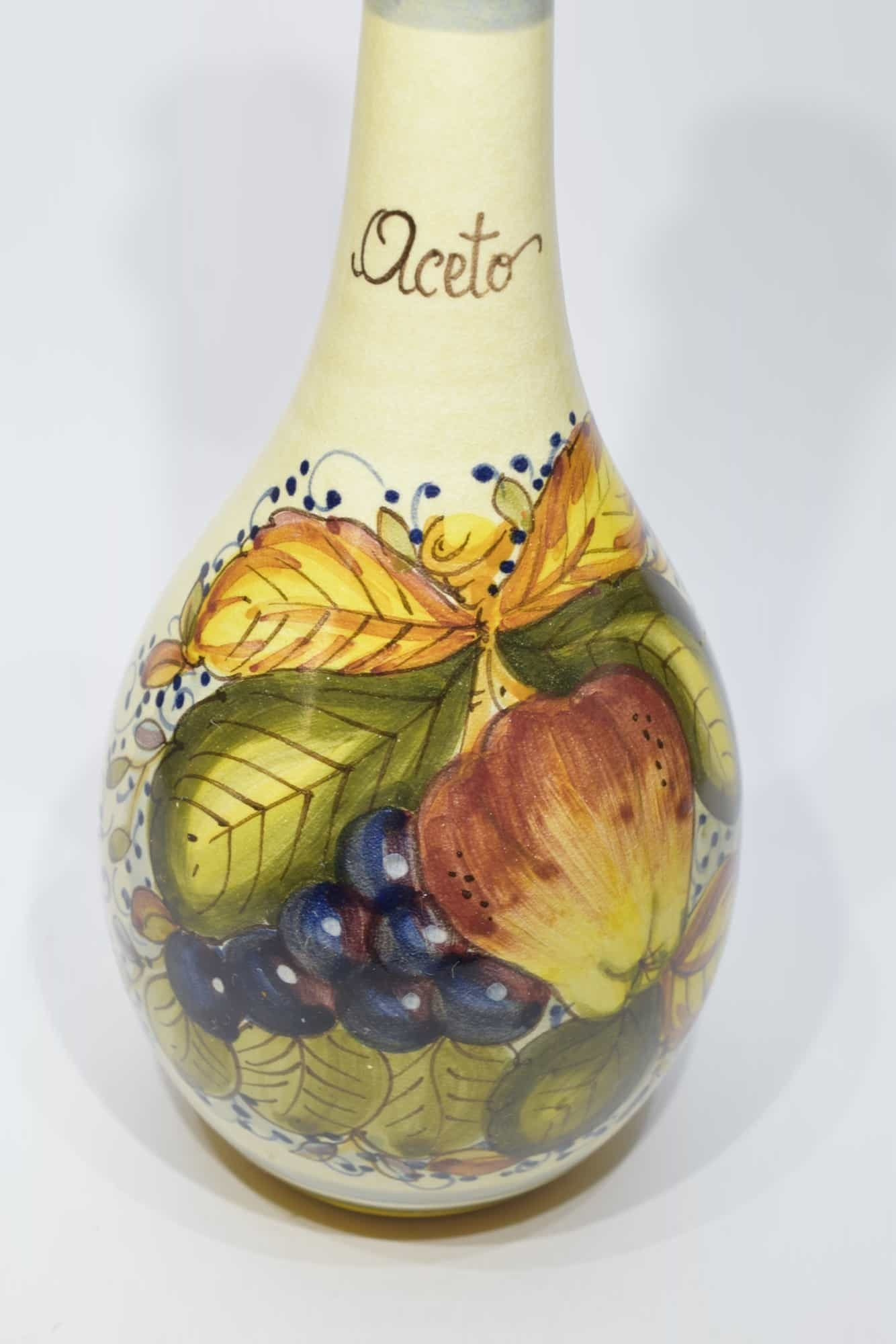 Handbemalte Keramikvase - (Art. 12784)