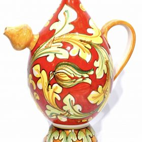 Handbemalte marodierende Keramikkaraffe