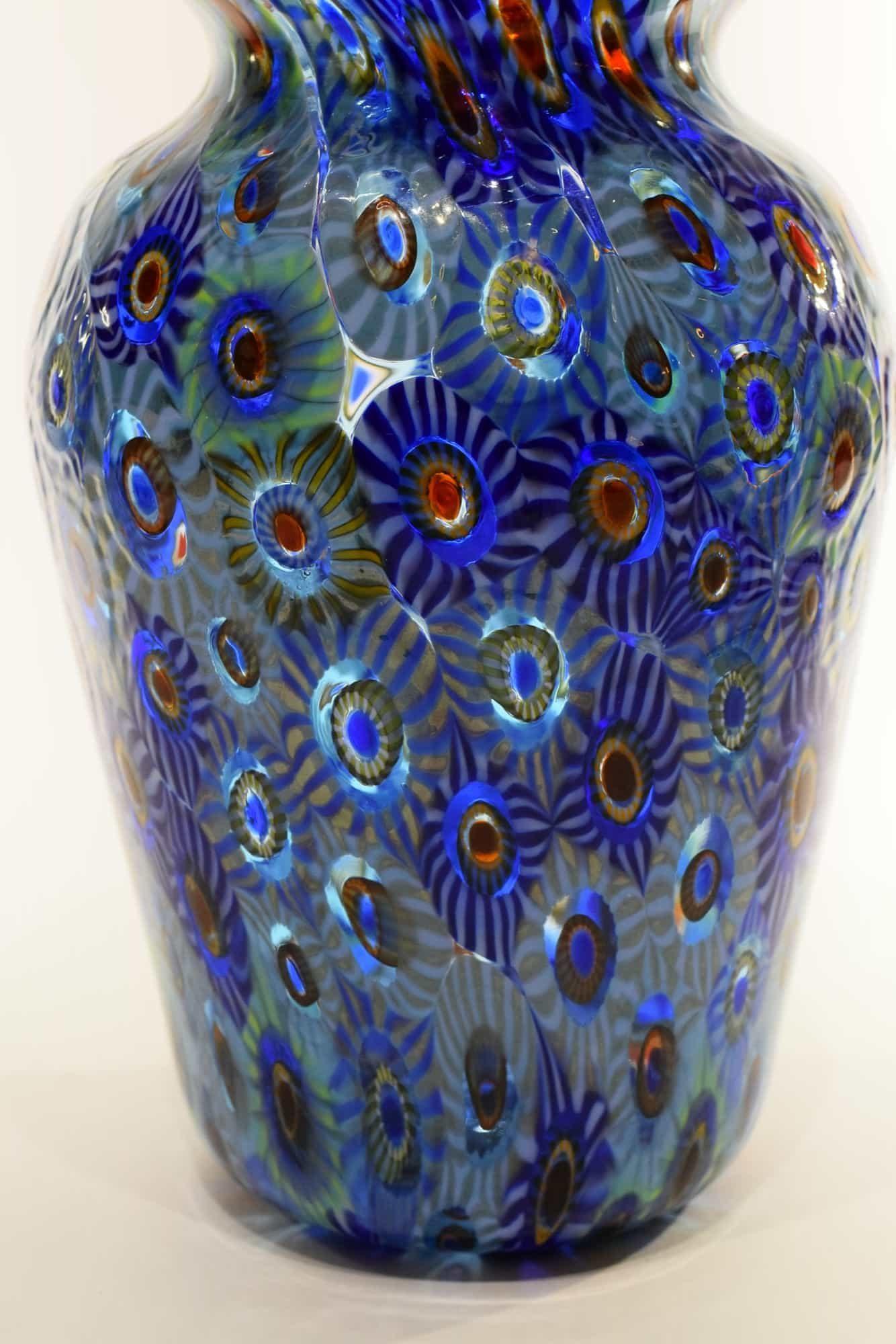 Murano Glass Murrine Vase (Art. 12899)