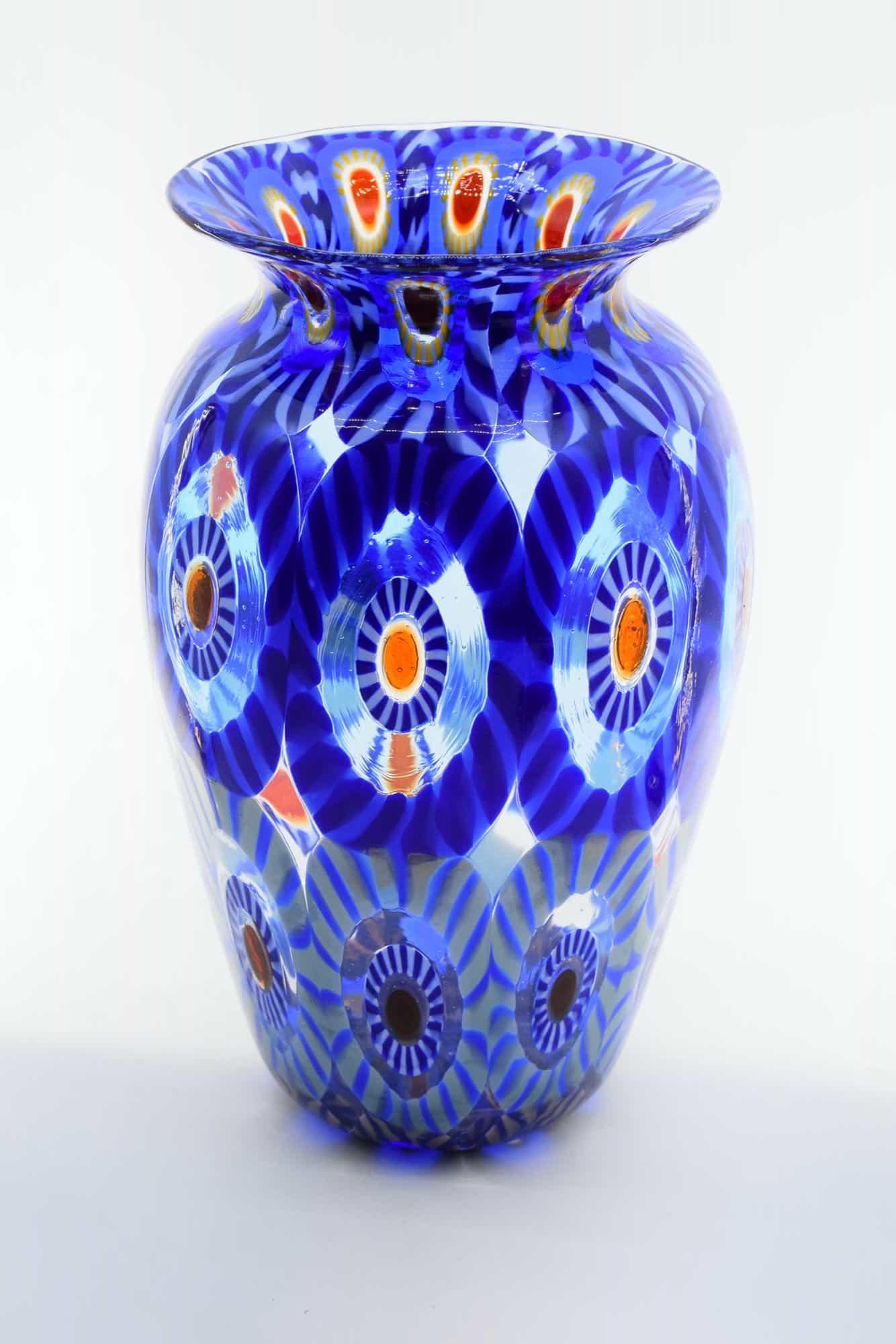 Murano Glass Murrine Vase (Art. 12855)