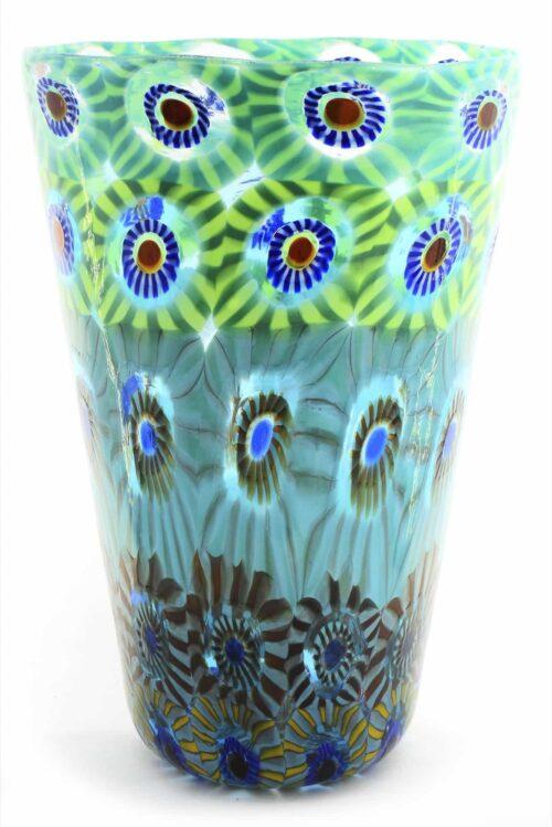 Murano glass murrine vase