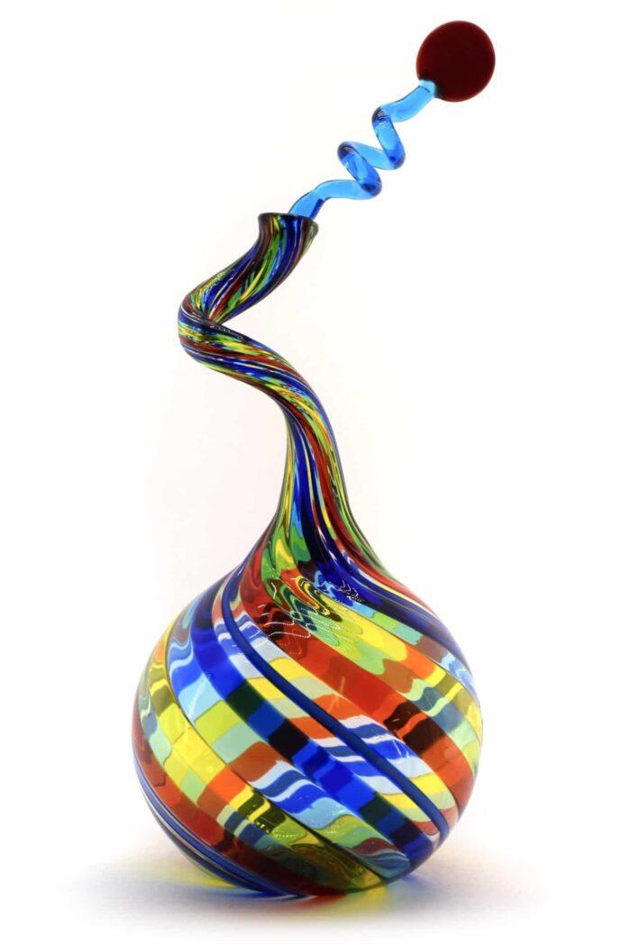 Филигранная бутылка из муранского стекла