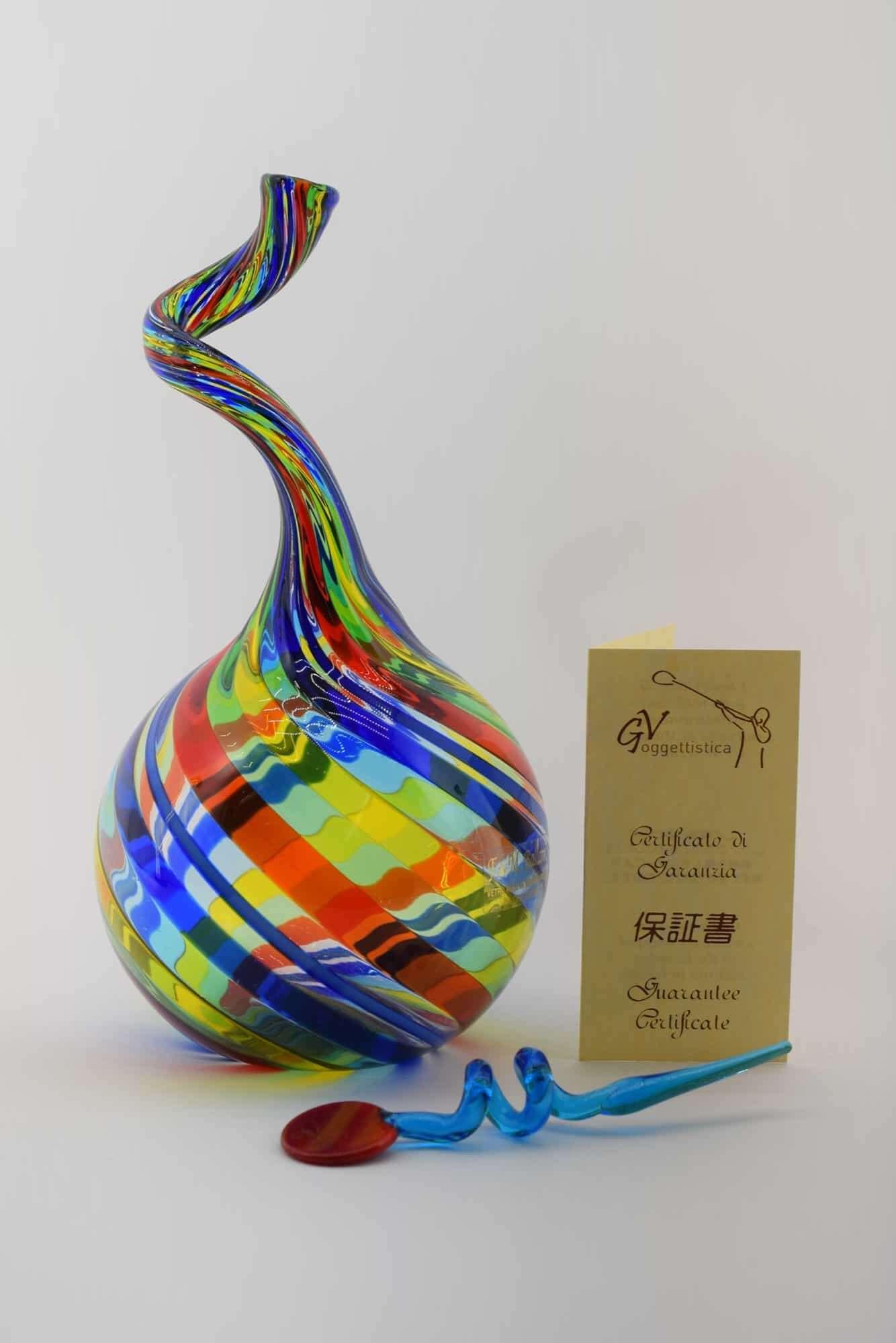 Филигранная бутылка из муранского стекла - (Art. 13186)