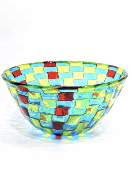 Gepunktete Murano-Glasschale