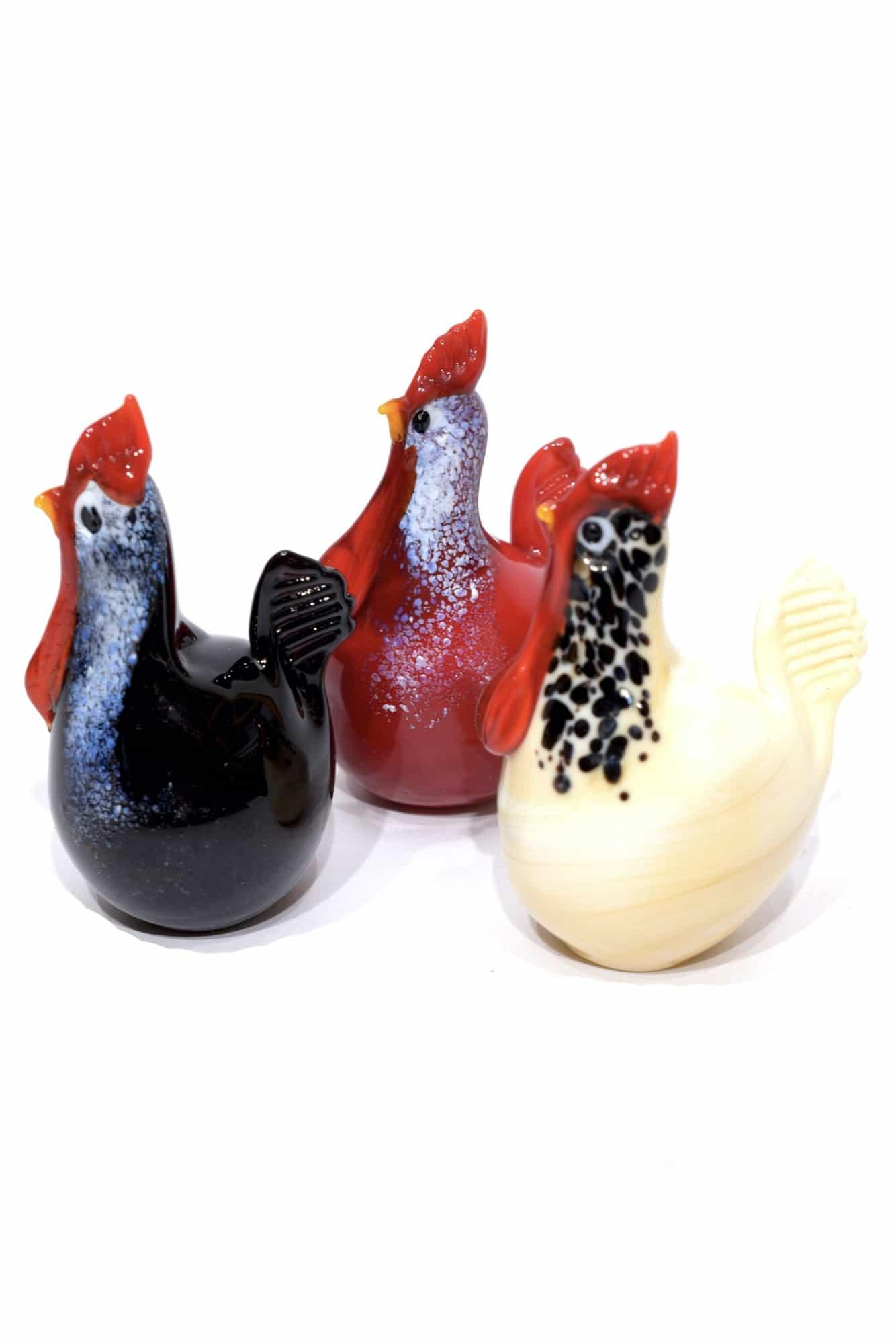 Murano Glas Hühner