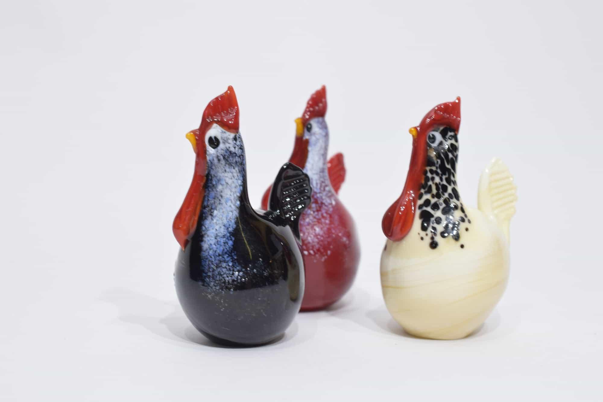 Murano Glass Hens - (Art. 13433)
