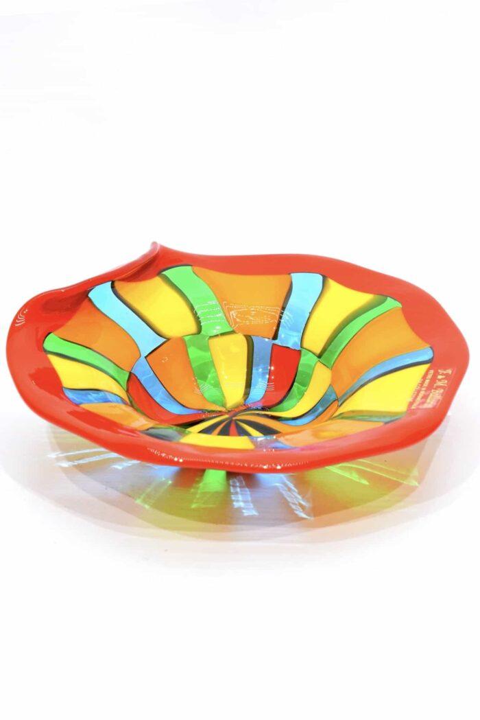 Пятнистая тарелка из муранского стекла