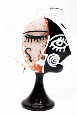 Picasso-Skulptur aus Muranoglas