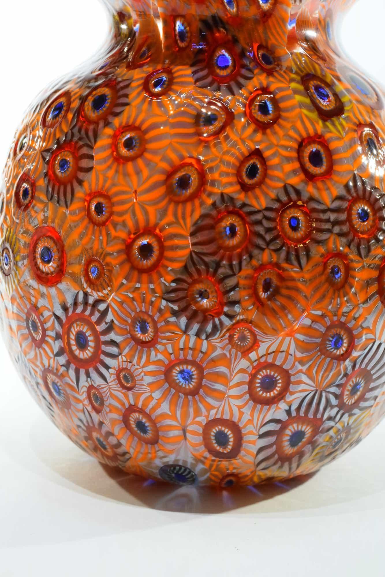 Murano Glass Murrine Vase (Art. 13237)