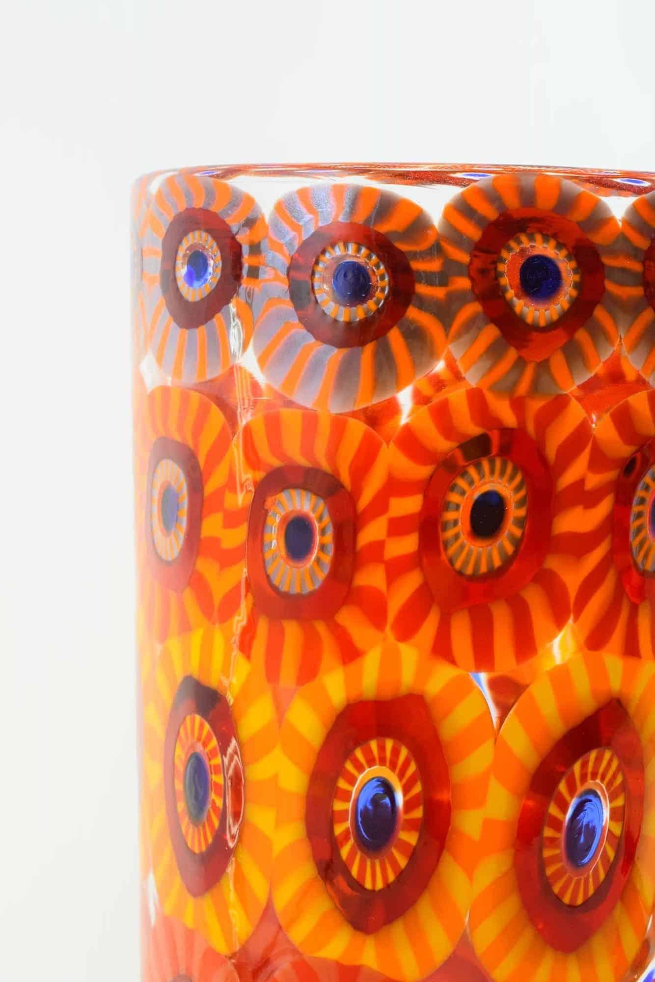 Murano Glass Murrine Vase (Art. 13400)