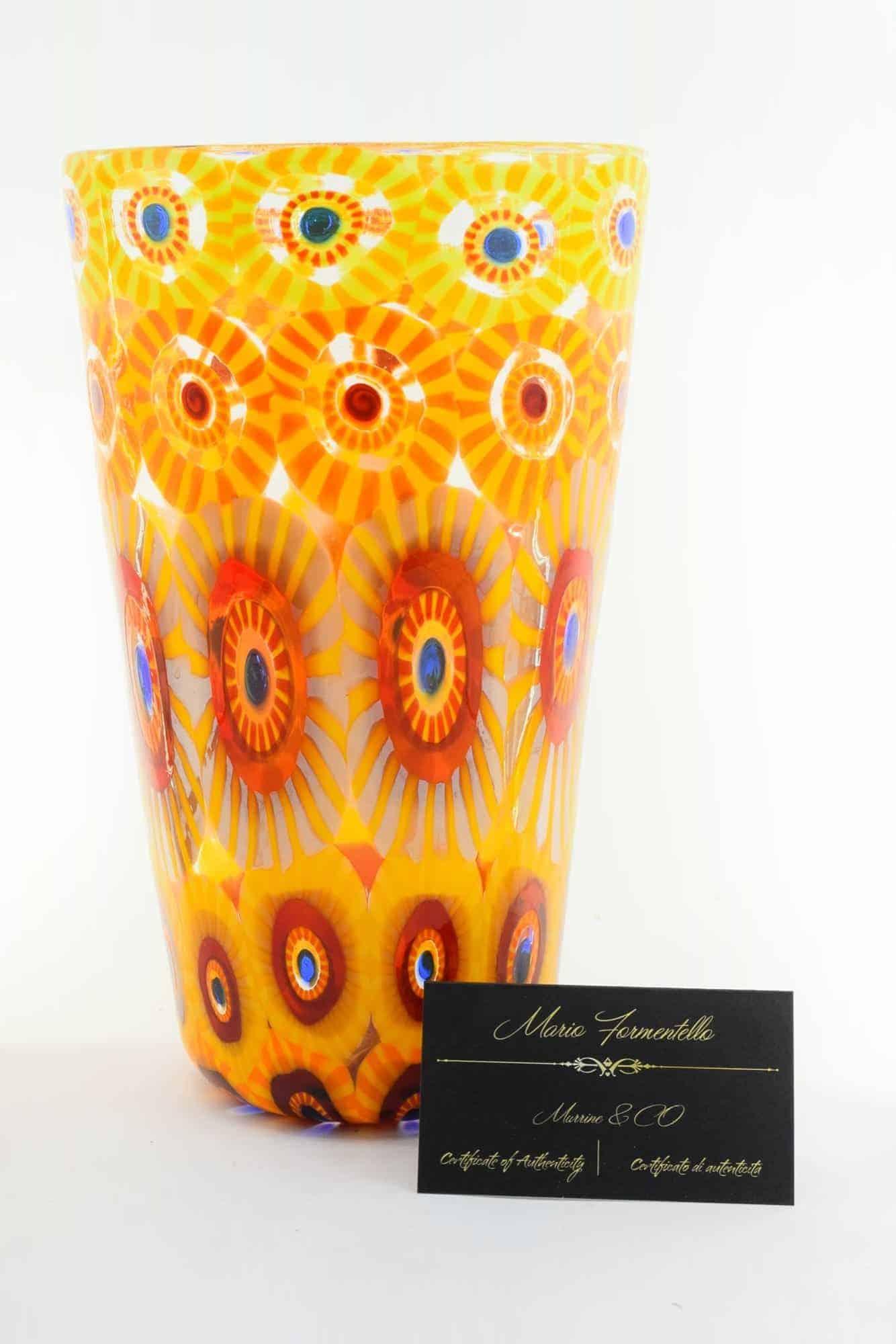 Murano Glass Murrine Vase (Art. 13310)