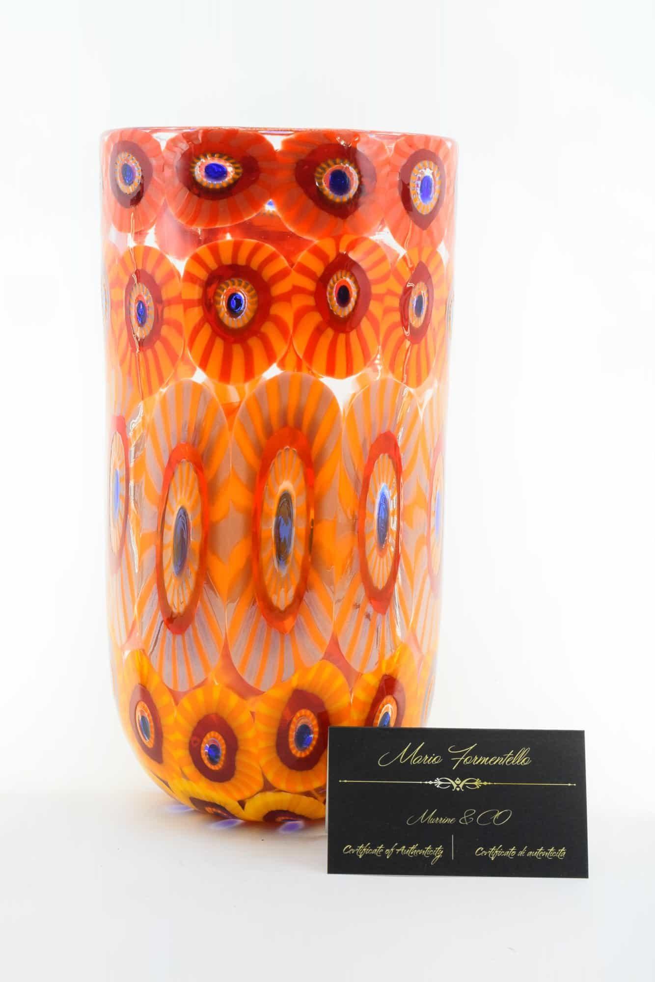 Murano Glass Murrine Vase (Art. 13288)