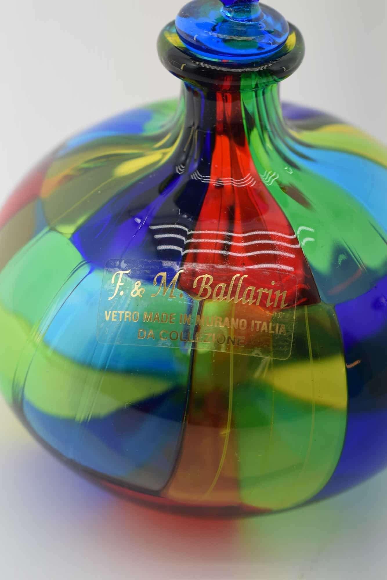 Пятнистая бутылка из муранского стекла - (Art. 31645)